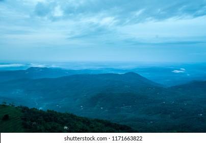 Beautiful nature scenery kerala, Top View of Palakkayam Thattu, Kannur, Kerala