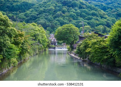 Beautiful nature scenic view in Arashiyama, Kyoto, Japan