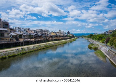 Beautiful nature scenic view in old village, Kyoto, Japan