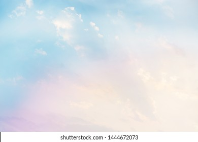 beautiful nature, soft light color blue sky, cirrocumulus cloud bright color filter style for abstract background