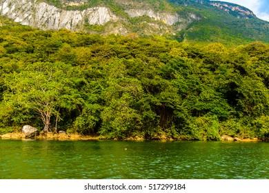Beautiful nature of Sumidero Canyon National Park, Chipas, Mexico.