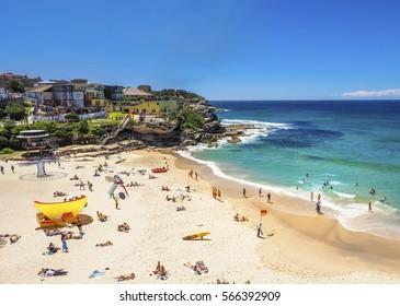 Beautiful Nature of Tamarama Beach between the Bondi to Coogee Walk, Australia.