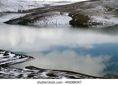 The beautiful nature of western Iran in winter