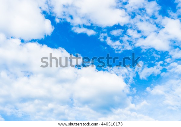 Beautiful nature with white cloud on blue sky background