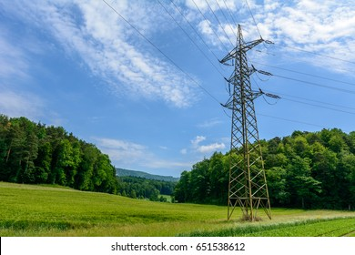 Beautiful Nature wit high volt Mast for electricity