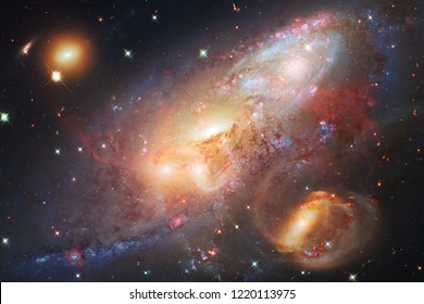 Beautiful nebula and bright stars in outer space, glowing mysterious universe. Elements of this image furnished by NASA