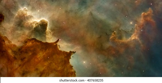 Beautiful nebula in cosmos far away. Retouched image. Elements of this image furnished by NASA.