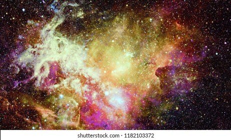 Beautiful nebula and Galaxy. Abstract nature. Elements of this image furnished by NASA.