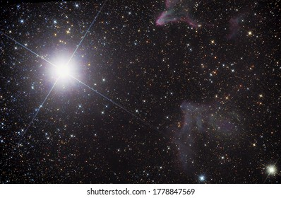 Beautiful nebulae in the constellation Cassiopeia