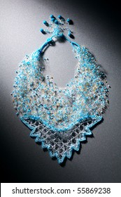 Beautiful necklace from blue beads