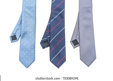 beautiful necktie isolated on white background