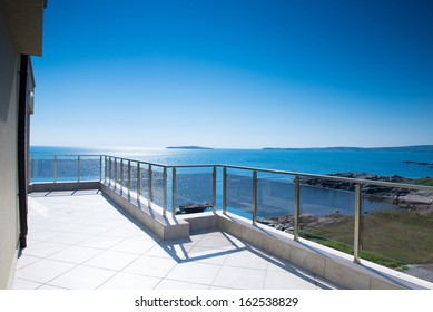 beautiful new apartment building, outdoor, terrace view