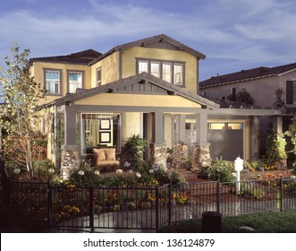 Beautiful New Home Exterior of a House