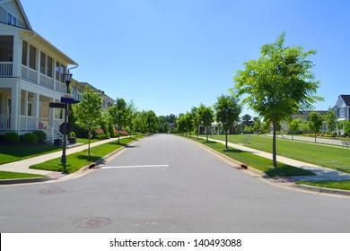 Beautiful, New Suburban Neighborhood Development