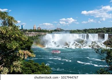 Beautiful Niagara falls in the summer, Canada
