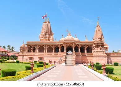 Beautiful and nice view of Akshardham temple of Gujarat.