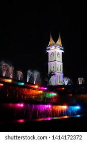 Beautiful Night Jam Gadang at Bukittinggi West Sumatera Indonesia