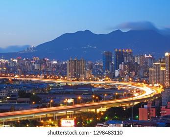 Beautiful Night Scene of Taipei City