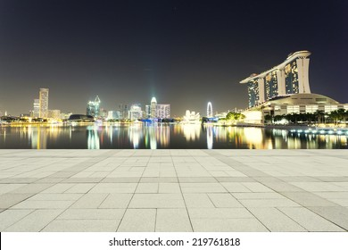 beautiful night scene of urban city