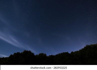 Beautiful night sky  with the constellation Ursa Major, Ursa Minor, Draco Starry night, Dark sky