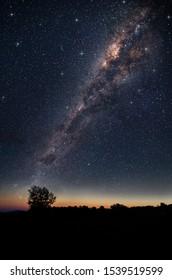 beautiful night sky and milkway background