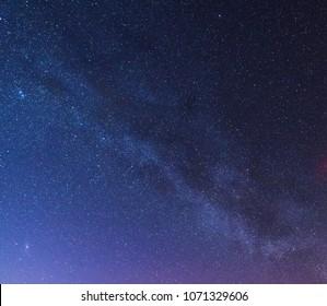 Beautiful night stary sky with milky way.