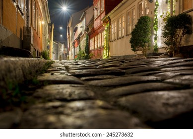 beautiful night streets Helsingor