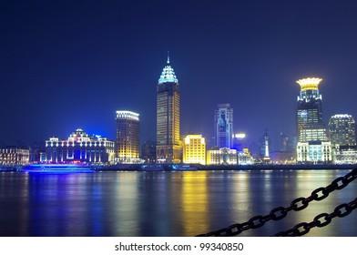 Beautiful night view of the Bund, Shanghai