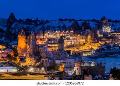 Beautiful night view of Göreme, Capadocia, Turkey