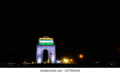 Beautiful night view of India gate