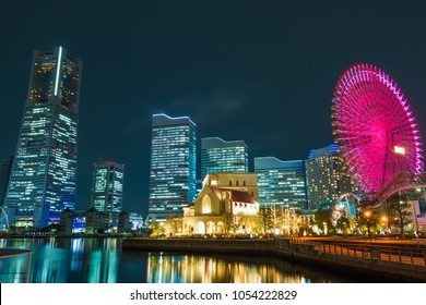 A beautiful night view of Minato Mirai