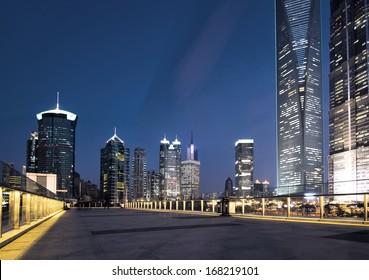 beautiful night view in shanghai