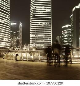 The beautiful night view of Shanghai,in China
