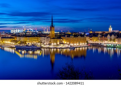 A beautiful night view of Stockholm, Sweden