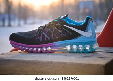 sale retailer 44cb7 60252 Beautiful Nike Air Max 2015 running shoes, sneakers, trainers close up  view, shot