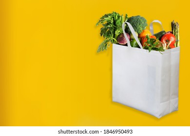 Beautiful Non Woven grocery shopping bag with yellow background