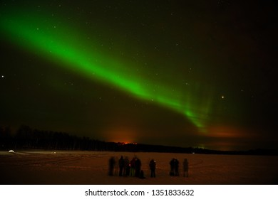 Beautiful Northern lights in the Arctic