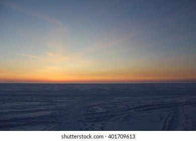 Beautiful northern sunset
