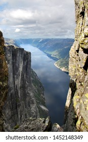Beautiful Norway fjord. View from Kjerag mountain. Lysefjord. Rogaland.