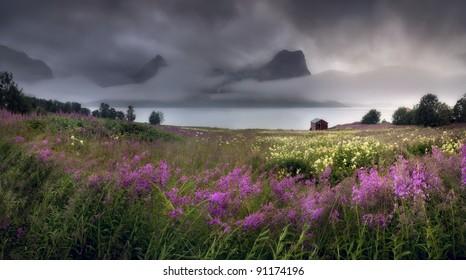 Beautiful Norway. Stitched Panorama.