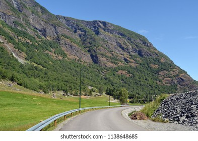 Beautiful Norwegian countryside .June 17,2018. Flam, Norway, Scandinavia.