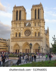 Beautiful Notre Dame Church in Paris - PARIS / FRANCE - SEPTEMBER 25, 2016