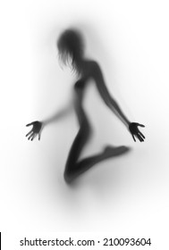 Beautiful nude female human body silhouette