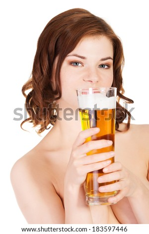 Girl nude with beer that necessary