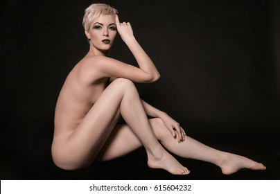 Naked women long legs