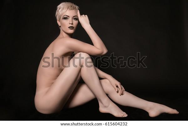 Skinny girls nude in stockings
