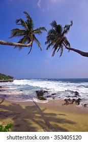 Beautiful Ocean Beach Tissamaharama in Sri Lanka