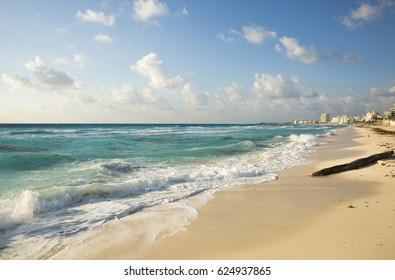 Beautiful Ocean, the Caribbean Sea, Cancun, Mexico
