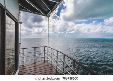 Beautiful Ocean Landscape from a Balcony in the Caribbean