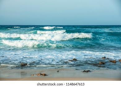 beautiful ocean waves, a bit stormy